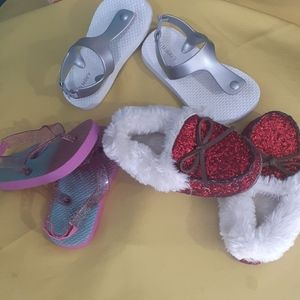 3 pair of baby  girls shoes